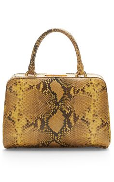 Small Snakeskin-Printed Leather Satchel by Simone Rocha Now Available on Moda Operandi