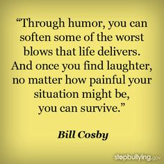 Laughter is the best medicine.....