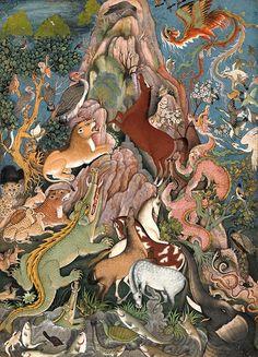 Livre d'art Le Cantique des oiseaux d'Attar illustré par la peinture en Islam d'orient - Éditions Diane de Selliers