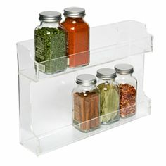 The Container Store > Double Acrylic Spice Rack $18