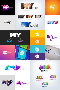 My.com Identity by My.com , via Behance