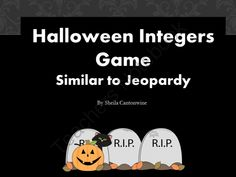 Halloween Integer Game - Similar to Jeopardy from Differentiated Math Practice on TeachersNotebook.com -  (32 pages)  - This Jeopardy-like game features a 25 question review of Integers in a Powerpoint file.  The categories in this game include Ordering, Adding, Subtracting, Multiplying, and Dividing Integers.