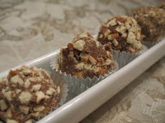 Nutella Truffle Bites.  Substitute Canna-Butter to make the #MMJ way