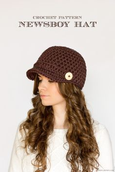 Nifty Newsboy Hat FREE Crochet Pattern