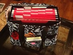 Great idea for my ThirtyOne bag - keep items for planned pages together and travel light :)