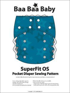 SuperFit OS Pocket Diaper Pattern by Baa Baa Baby