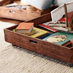 Under Bed Rolling Storage Crate | Serena & Lily