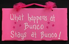 sign for Bunco