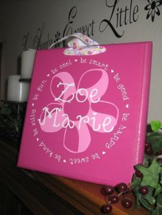 Sweet Little Ones Custom Wood Name Plaque with VINYL lettering  Childrens Decor  Be attitudes?!