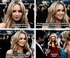 Jennifer Lawrence is the best.