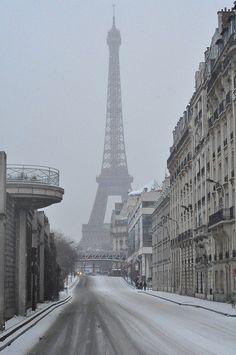 snowy Paris.......
