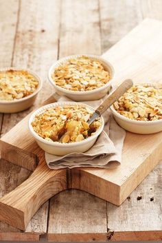 Easy Apple Crumble Pudding.