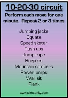 at home (sweaty) circuit workout. no equipment needed!