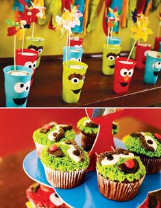 Colorful DIY Sesame Street Birthday Party // Hostess with the Mostess®