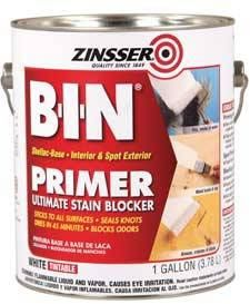 Zinsser B-I-N Primer Sealer - can be used as an undercoat when painting over tile ... For more info on how to paint bathroom tile, see http://www.bathroom-paint.net/painting-bathroom-tiles.php