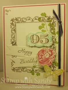 Love this birthday card using Papaya Collage and Memorable Moments stamp sets