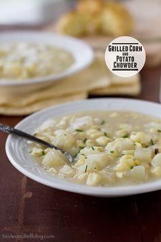 Grilled Corn and Potato Chowder | www.tasteandtellblog.com