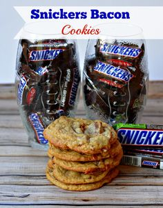 Snickers and Bacon Cookies from Growing Up Gabel