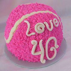 Cute tennis cake