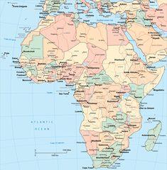 Mapa Políticoterritorial de África