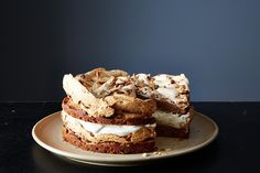 Walnut Meringue Cake