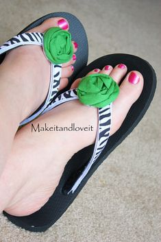 Interchangeable ribbon flip flops!