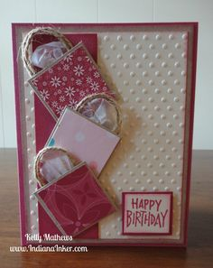 stampin up birthday card ideas | love this idea and it is so simple i got this idea from stamping ...