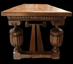 Genuine Elizabethan carved oak table, with 'later' alterations. Only it's Elizabeth 2nd!