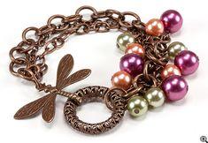 Jewelry Making Idea: Fields of May Bracelet (eebeads.com)