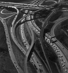 Ansel Adams 'Freeway Interchange', L.A. 1967