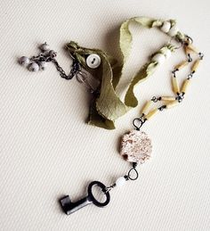 Beautiful necklace by Rebecca Sower.