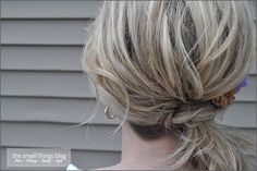 The Small Things Blog: The Knot Ponytail