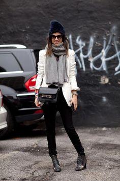 Leandra Medine has a cool slouchy hat for all seasons.    #streetstyle #newyorkfashionweek #fashion #fashionweek #style #harpersbazaar #mrnewton #leandramedine #manrepeller