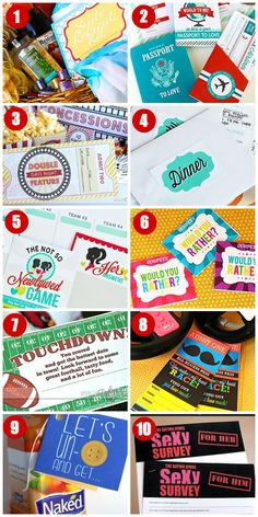 10 DIY Date Night Ideas with free printables!