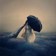 the storm above the clouds by brookeshaden, via Flickr