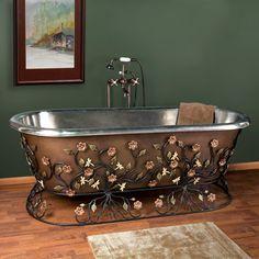 Antique Copper Tub - Nottingham Brass