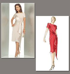 Mother Of The Bride Dress Patterns To Sew Vogue 21
