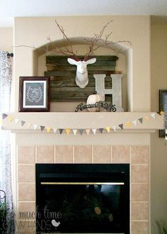 Rustic Industrial Mantle-Understated neutral fall decor 5 copy