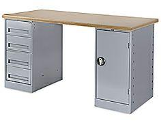 """72 x 30"""" 4 Drawer/1 Door Modular Workbench - Composite Wood Top"""