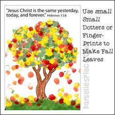 Fall Tree Fingerprint Craft