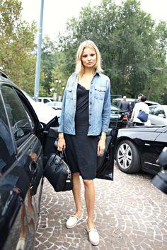Black Dress & Jean Jacket