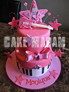Hannah Montana cake  by Cake Madam, via Flickr