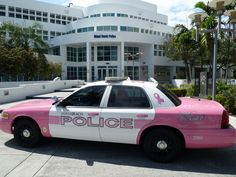 Police car for breast cancer