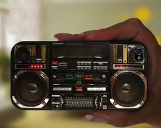 Wrap your iPhone in this rad boombox case and start taking calls from the 80s.