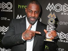Idris Elba gets to the point at the MOBO Awards nominations launch Tuesday in London, where the actor received the first-ever MOBO Inspiration Award for succeeding against all odds.