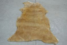 "Leather Sheep Hide 3/4"" Wool cover 22"" x 48"" Brown rug Sheepskins pelt fur (B) #Woolsheepskin"