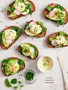 Avocado almondaise tar tines are an elegant and veggie-friendly meal.