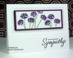 CAS37: With Sympathy by k dunbrook - Cards and Paper Crafts at Splitcoaststampers Stampin' Up!