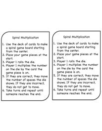 Spiral Multiplication Directions