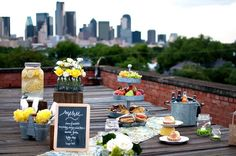 Rooftop picnic
